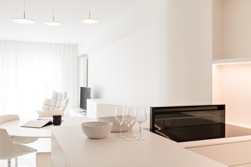 FB 1815 VLIEGER appartement - knokke-heist - leefruimte wit maatwerk