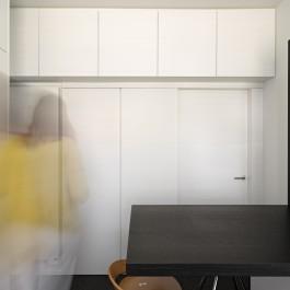 FB 1521 woning - edegem - keuken zwart en wit zwarte fineer maatwerk