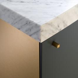 FB 1601 DESMET woning - details marmer top deur handel