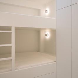 FB 1815 VLIEGER appartement - knokke-heist - slaapkamer stapelbed maatwerk