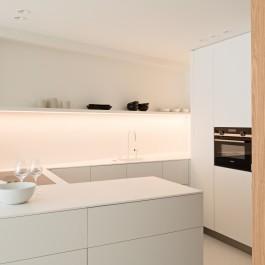 FB 1815 VLIEGER appartement - knokke-heist - keuken eik corean compact